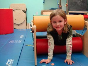 girl-in-sensory-gym at Bergen Pediatric Therapy
